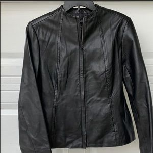 ALFANI leather jacket size medium